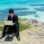 Vacation_business_man_notepc_work