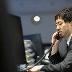 電話恐怖症の男性