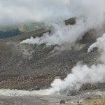 火山活動で出現したカルデラ