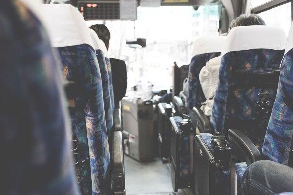 GW旅行の深夜バスの車内