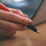 万年筆で書く