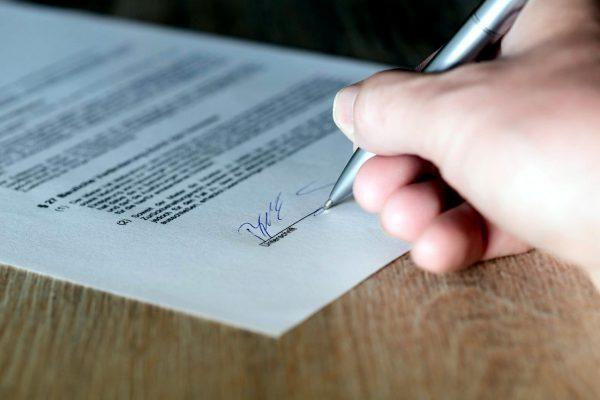 手書きの署名