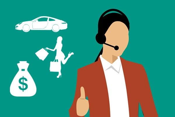 顧客対応を行うオペレーター