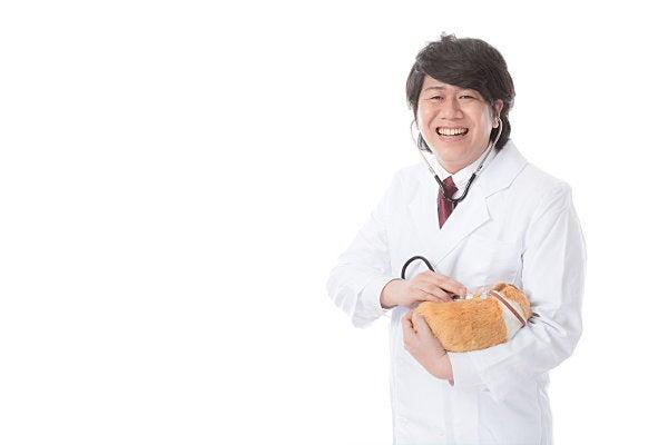 ペットを診療する獣医師