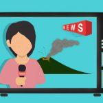 ニュースを伝えるアナウンサー