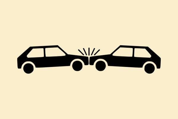 交通事故が起きた現場