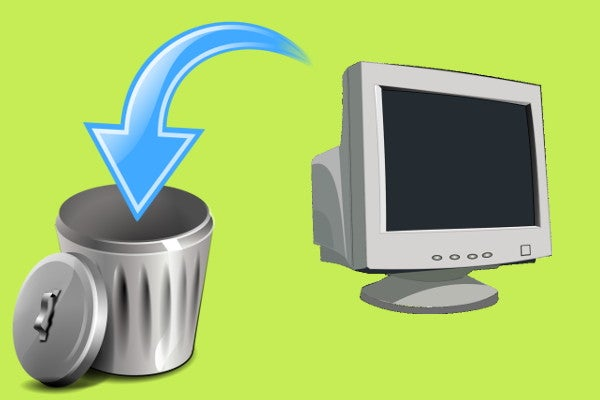 廃棄されるパソコン