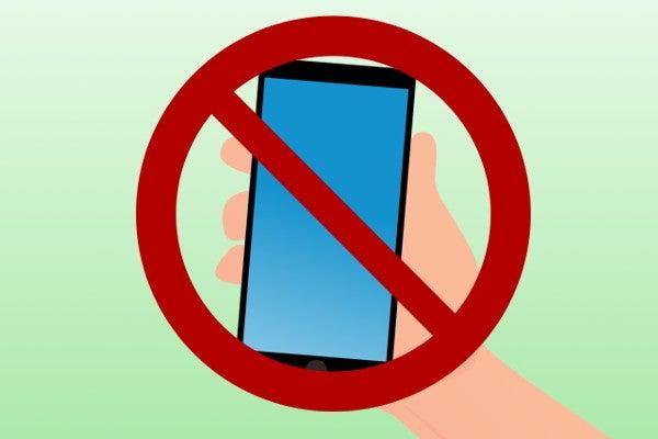 携帯電話の使用を控える場所