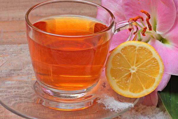 レモンが入った紅茶