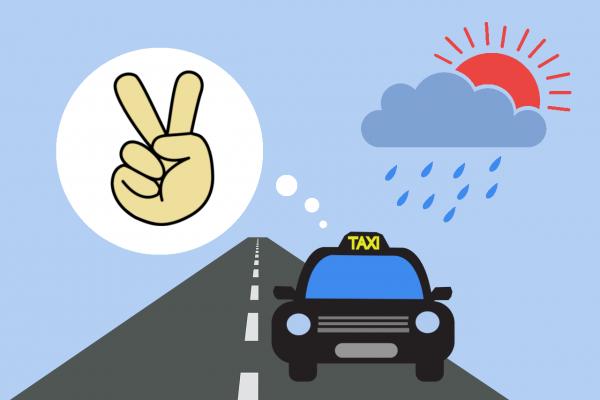 タクシーのマナーに配慮できた人